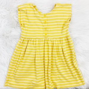 Hanna Andersson striped bright yellow dress